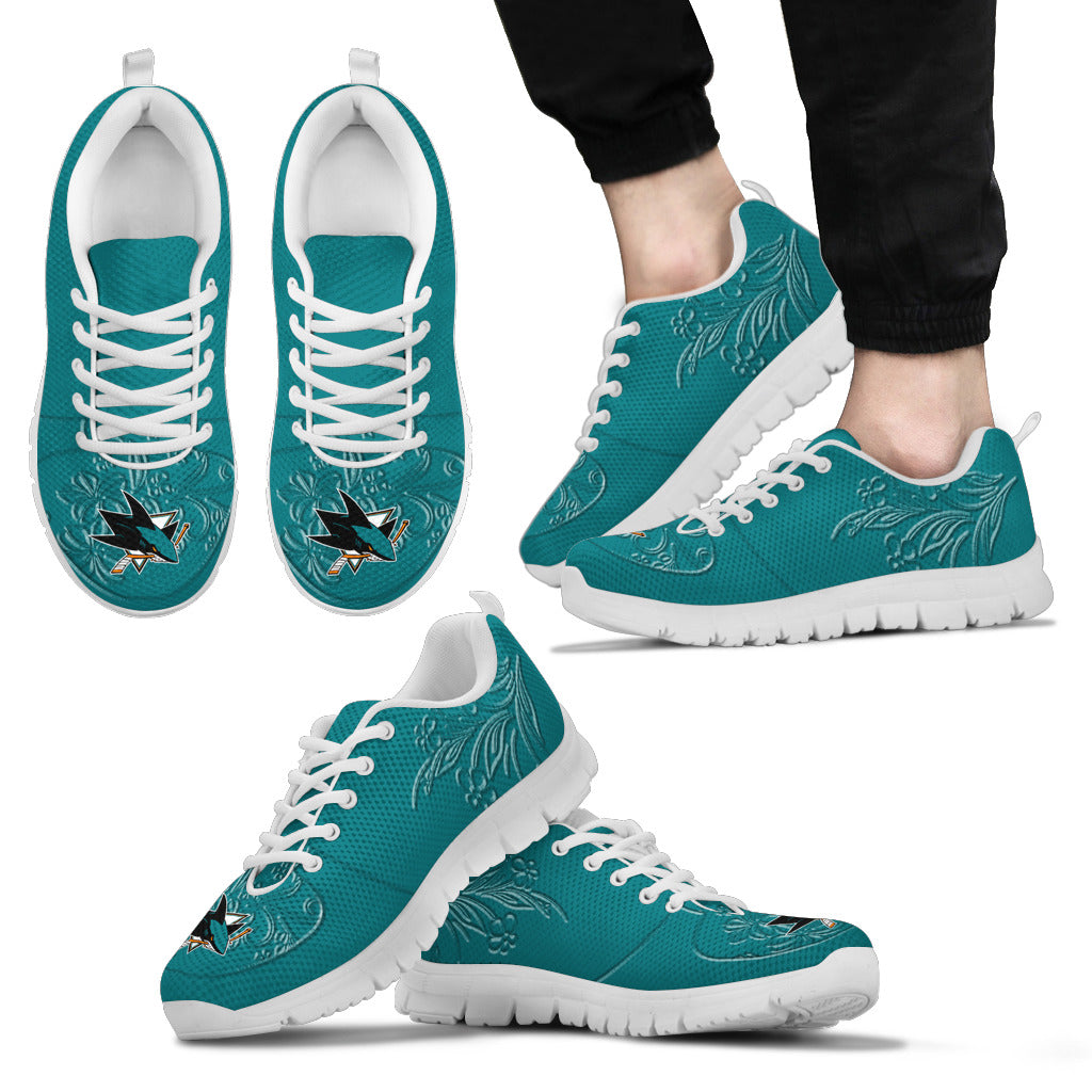 Lovely Floral Print San Jose Sharks Sneakers