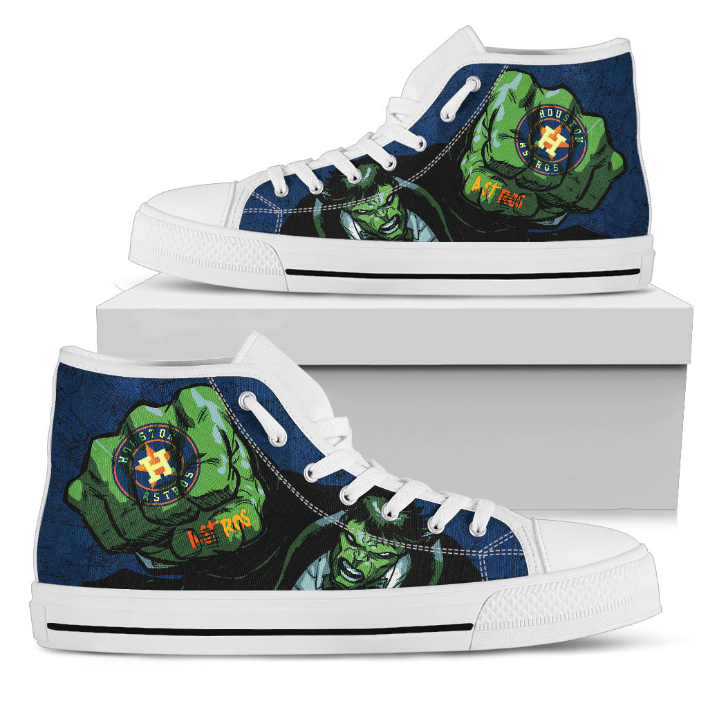Hulk Punch Houston Astros High Top Shoes