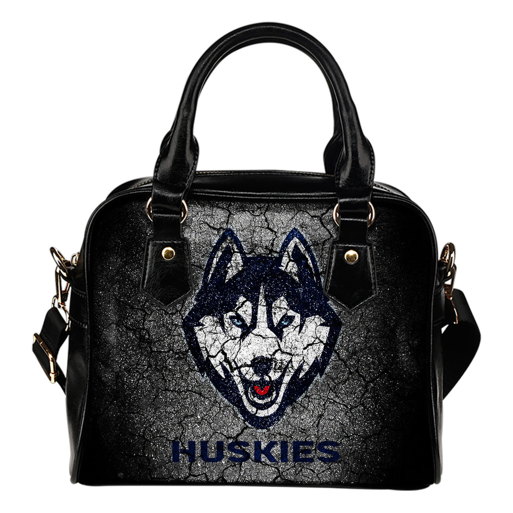 Wall Break Connecticut Huskies Shoulder Handbags Women Purse