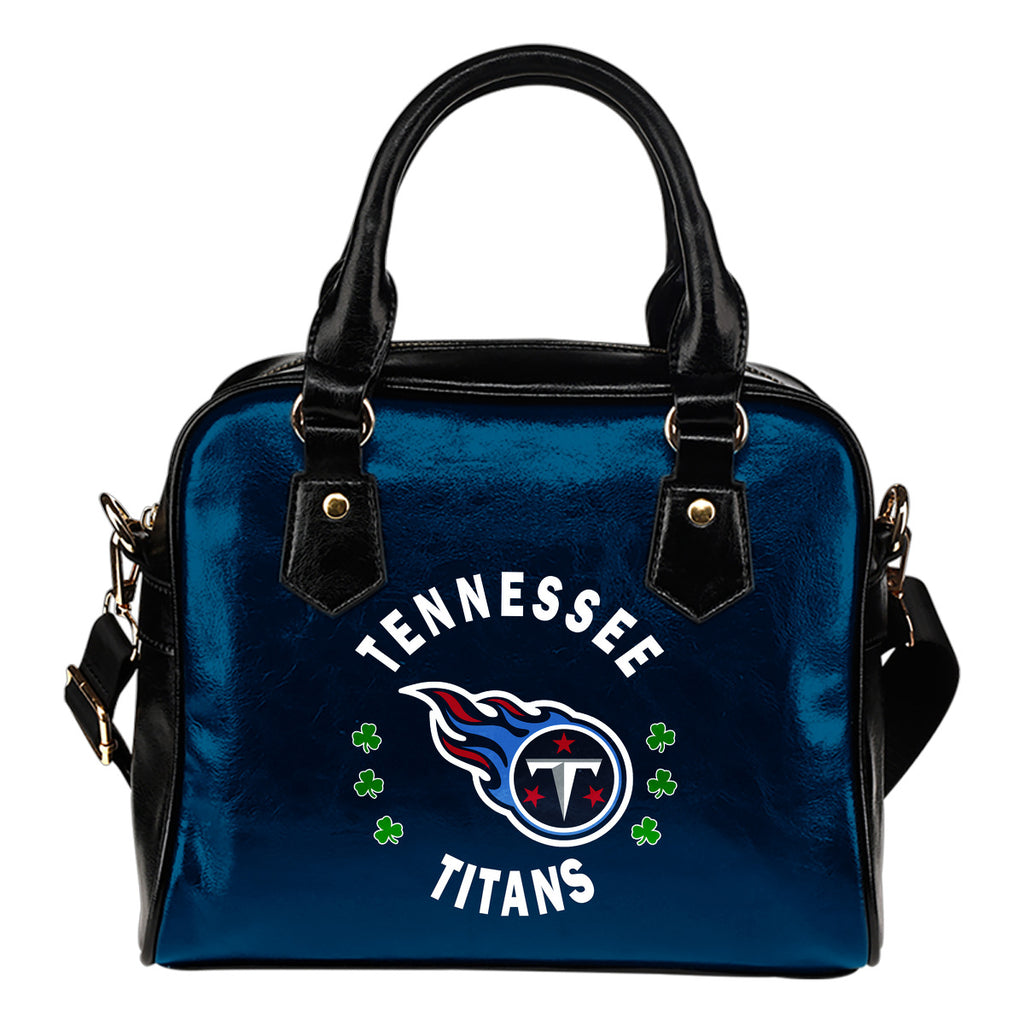 Central Beautiful Logo Circle Lucky Leaf Tennessee Titans Shoulder Handbags