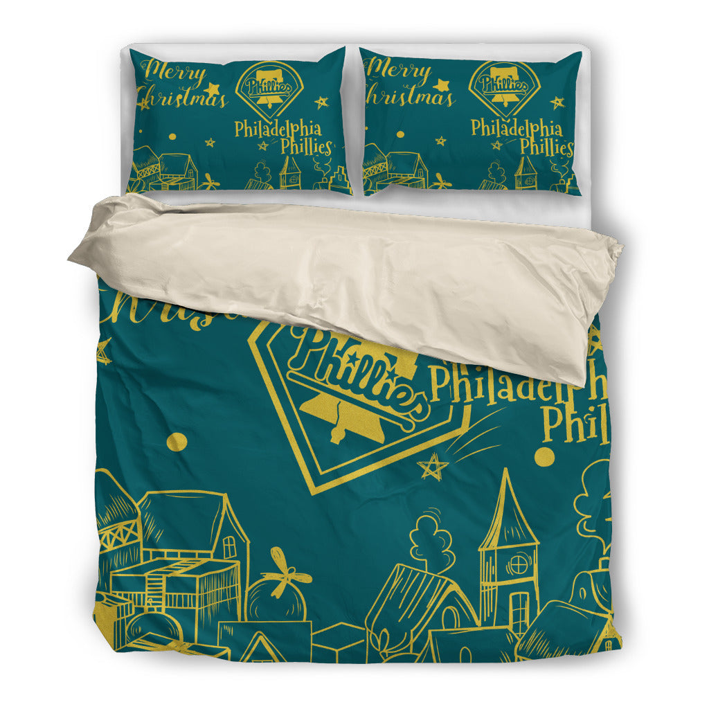 Nice Present Comfortable Christmas Philadelphia Phillies Bedding Sets