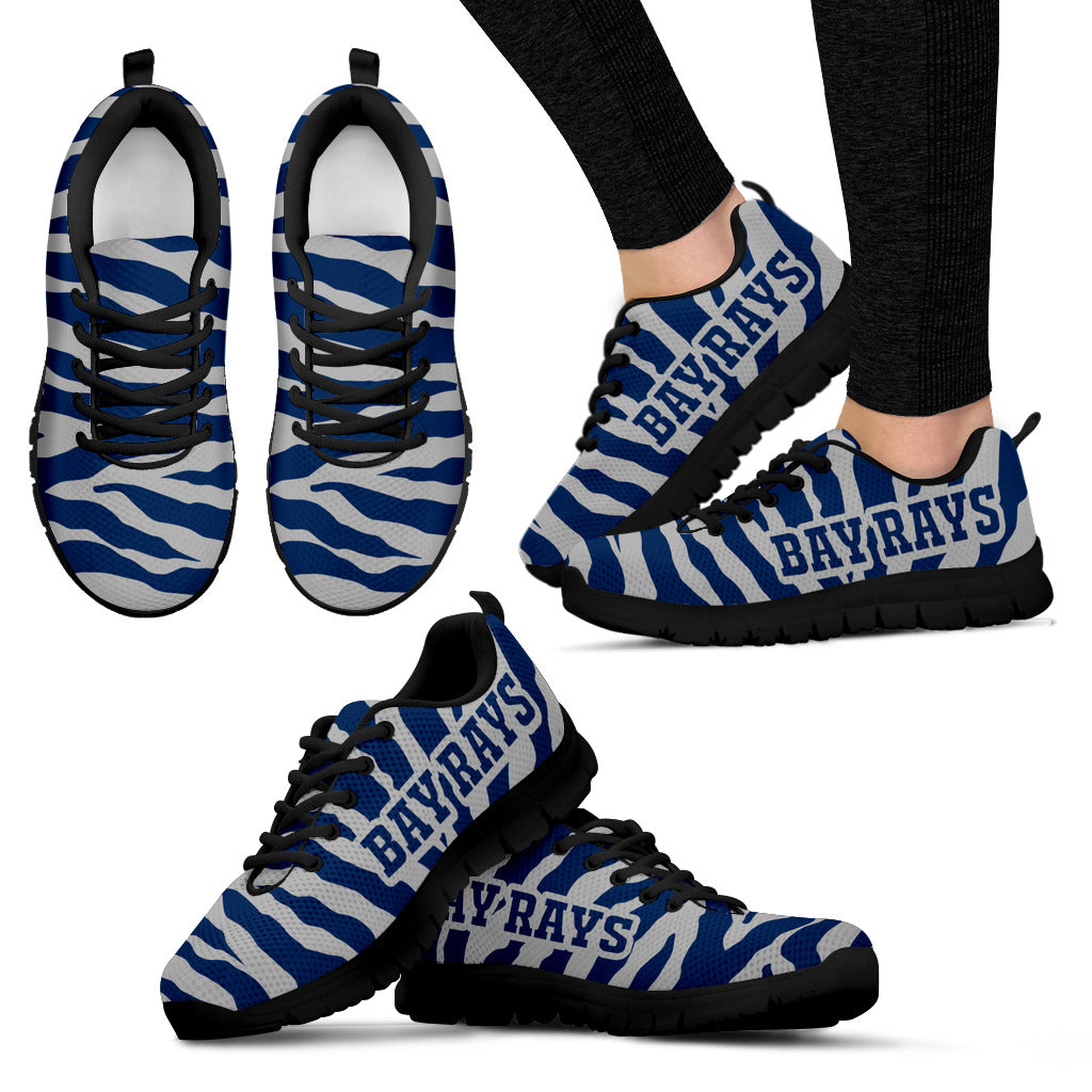 Tiger Skin Stripes Pattern Print Tampa Bay Rays Sneakers
