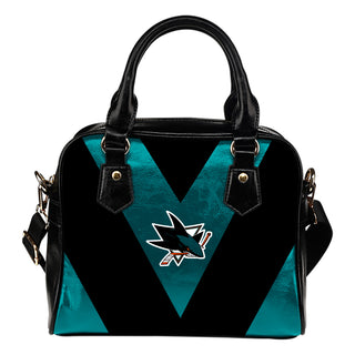 Triangle Double Separate Colour San Jose Sharks Shoulder Handbags