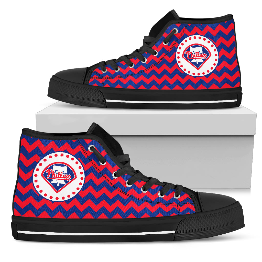 Chevron Broncos Philadelphia Phillies High Top Shoes