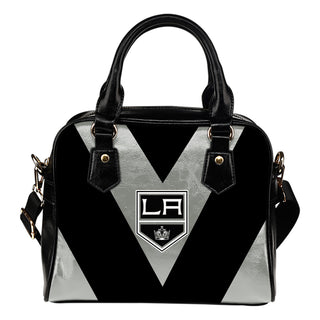 Triangle Double Separate Colour Los Angeles Kings Shoulder Handbags
