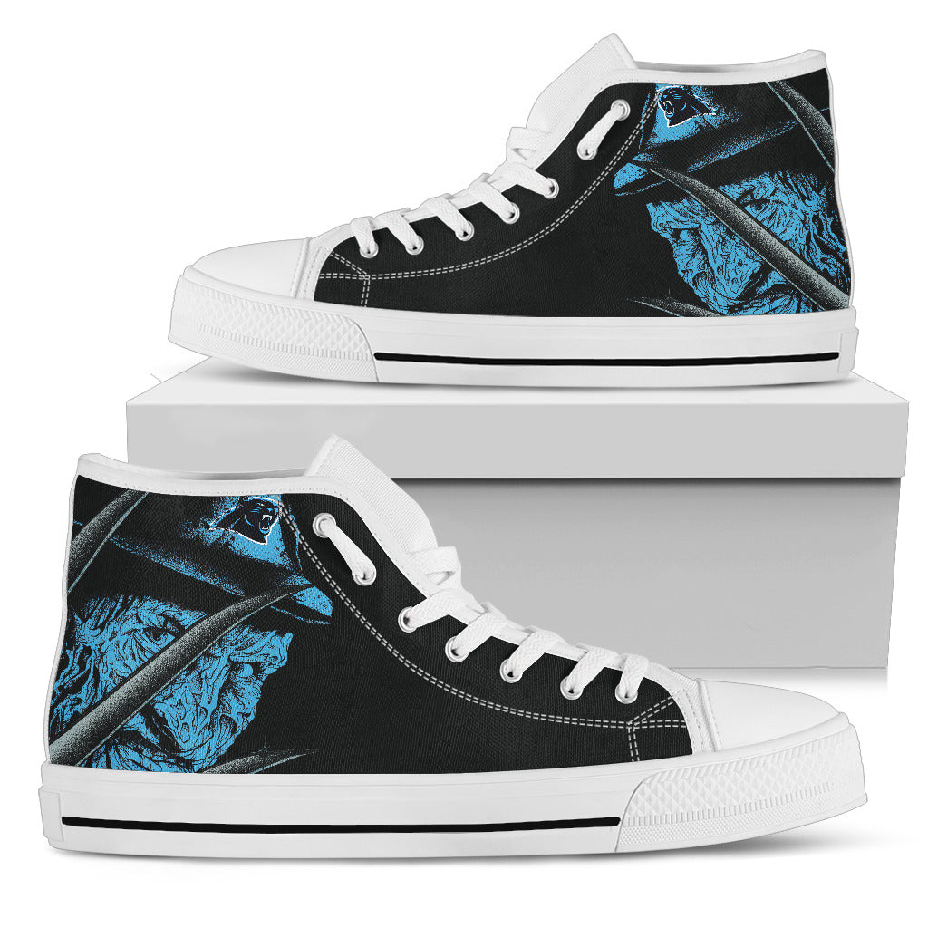 Carolina Panthers Nightmare Freddy Colorful High Top Shoes