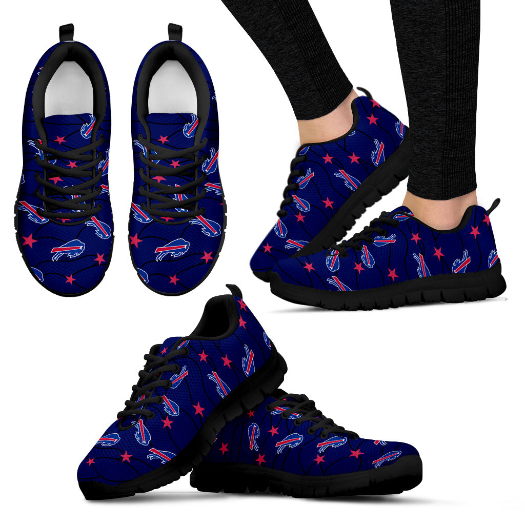 Star Twinkle Night Buffalo Bills Sneakers