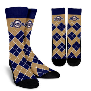 Gorgeous Milwaukee Brewers Argyle Socks