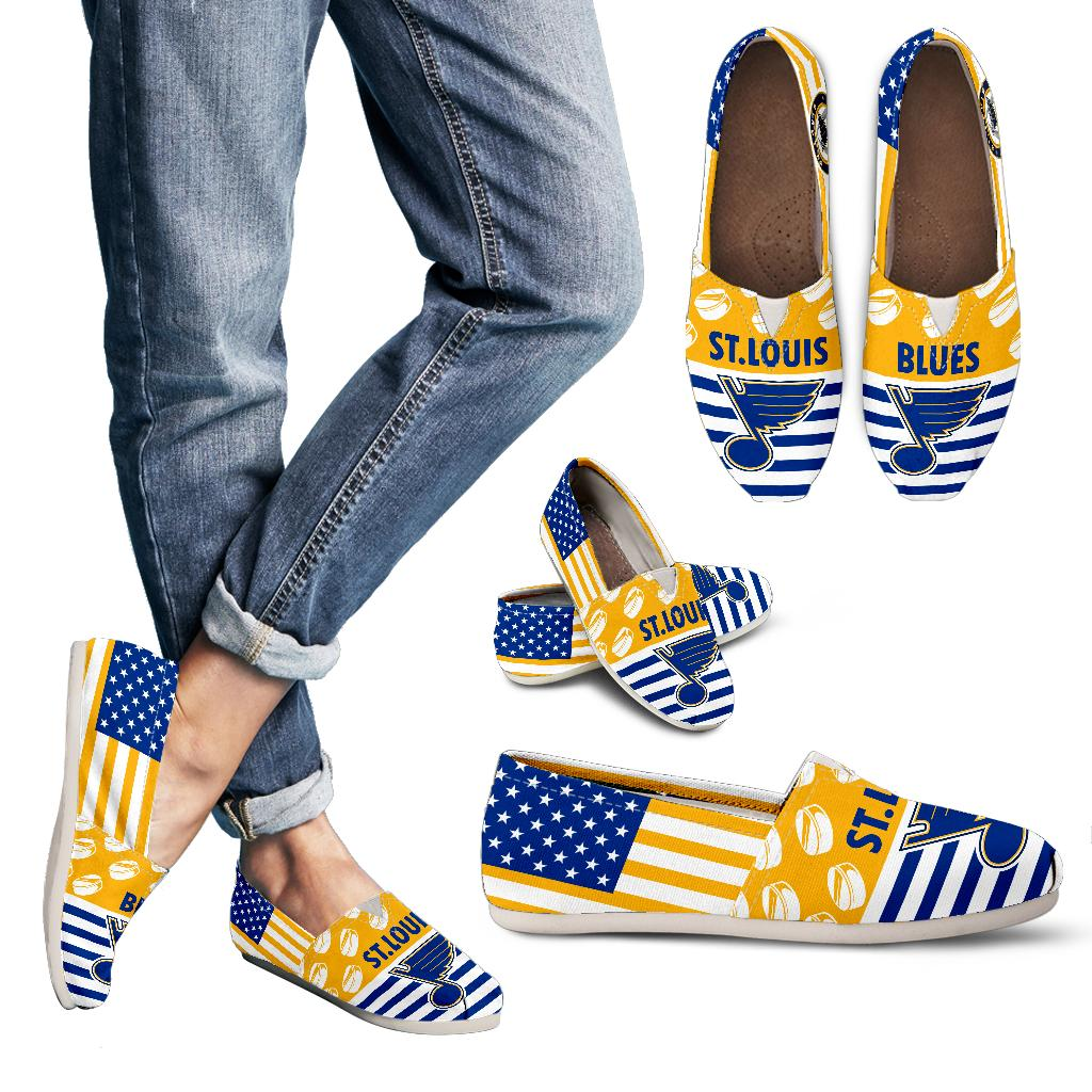 American Flag St. Louis Blues Casual Shoes