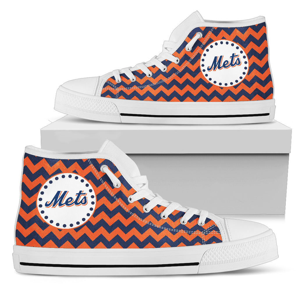 Chevron Broncos New York Mets High Top Shoes