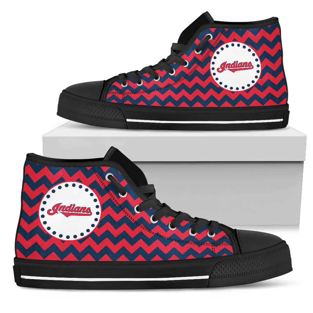 Chevron Broncos Cleveland Indians High Top Shoes