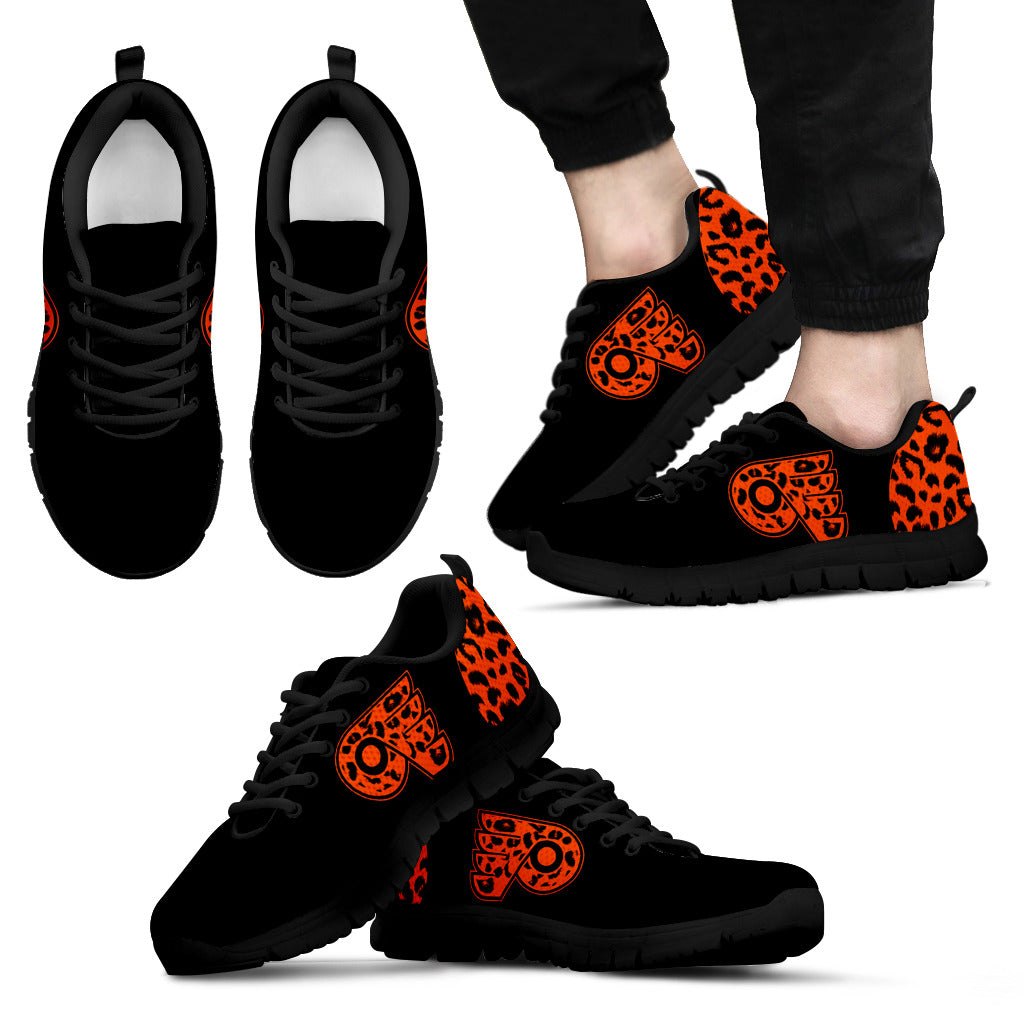 Cheetah Pattern Fabulous Philadelphia Flyers Sneakers