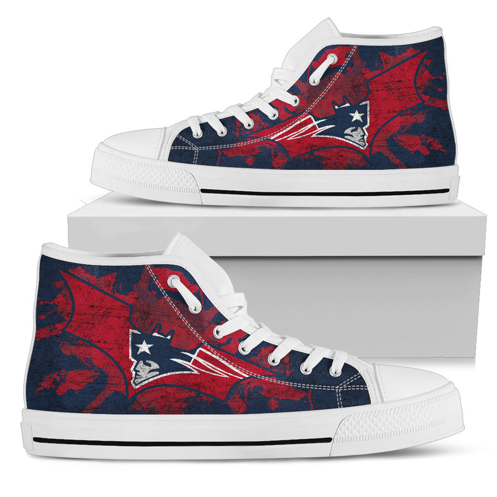 Batman Style New England Patriots High Top Shoes