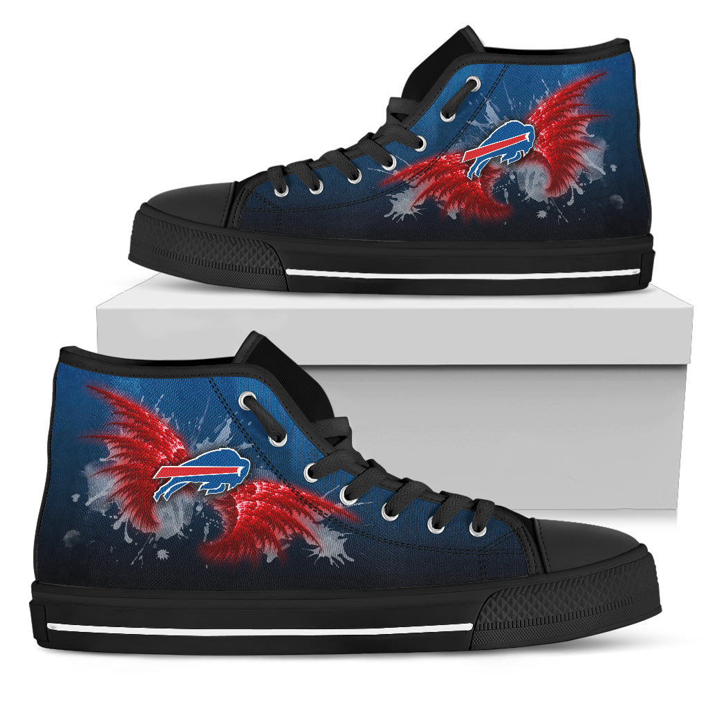 Angel Wings Buffalo Bills High Top Shoes