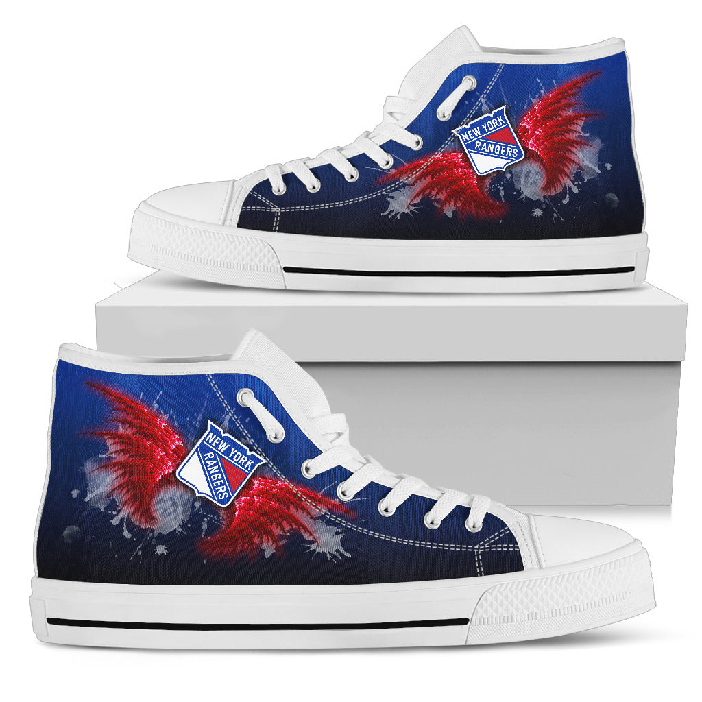 Angel Wings New York Rangers High Top Shoes