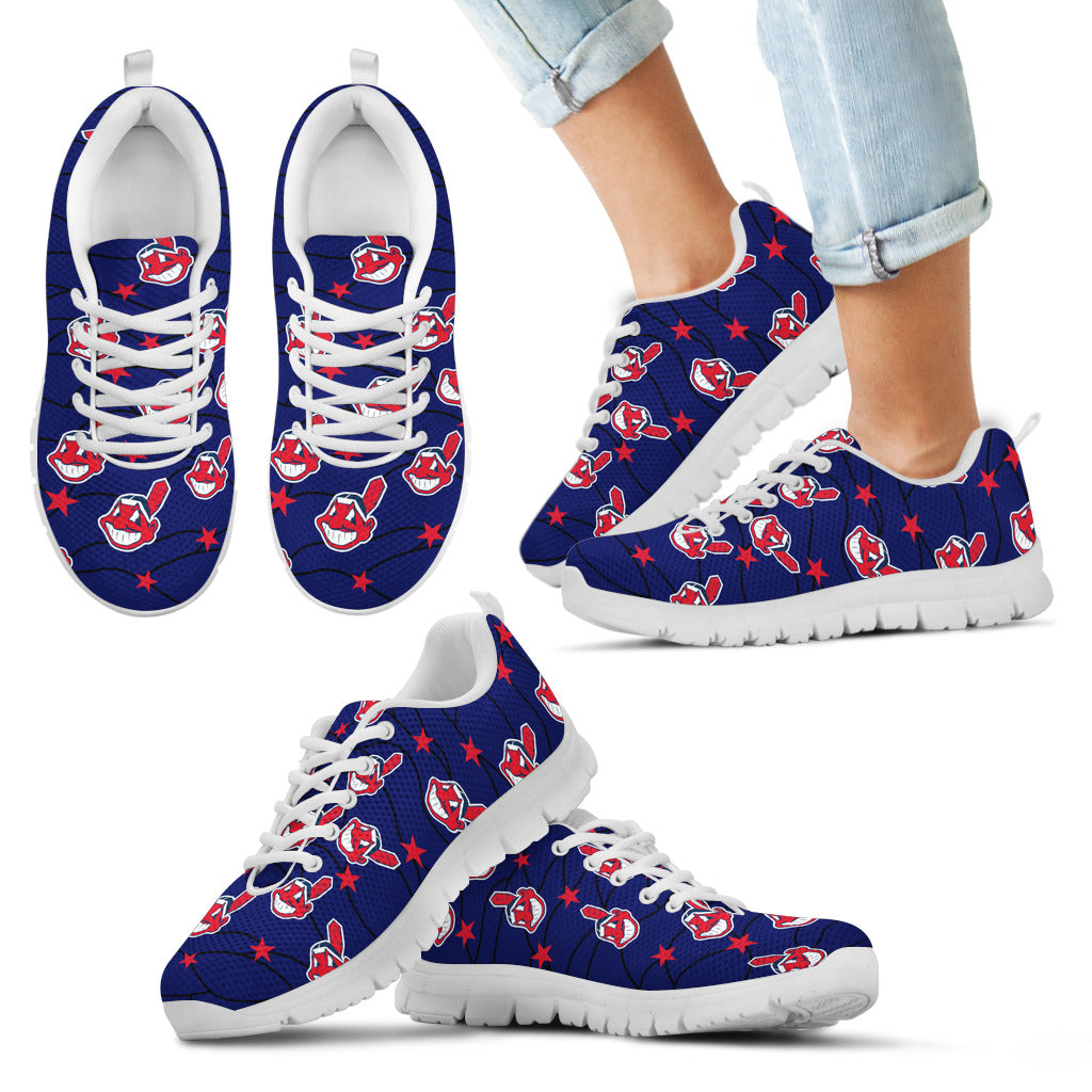 Star Twinkle Night Cleveland Indians Sneakers
