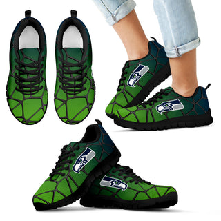 Colors Air Cushion Seattle Seahawks Gradient Sneakers