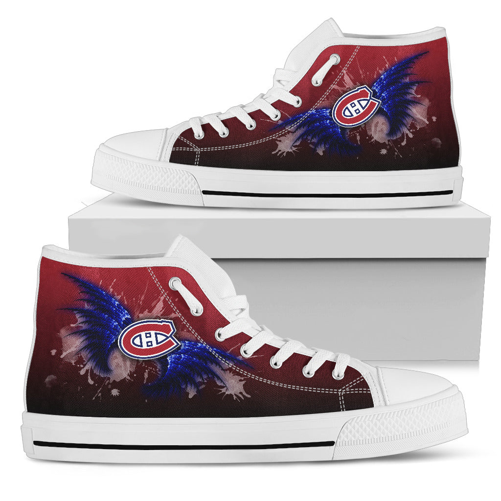 Angel Wings Montreal Canadiens High Top Shoes