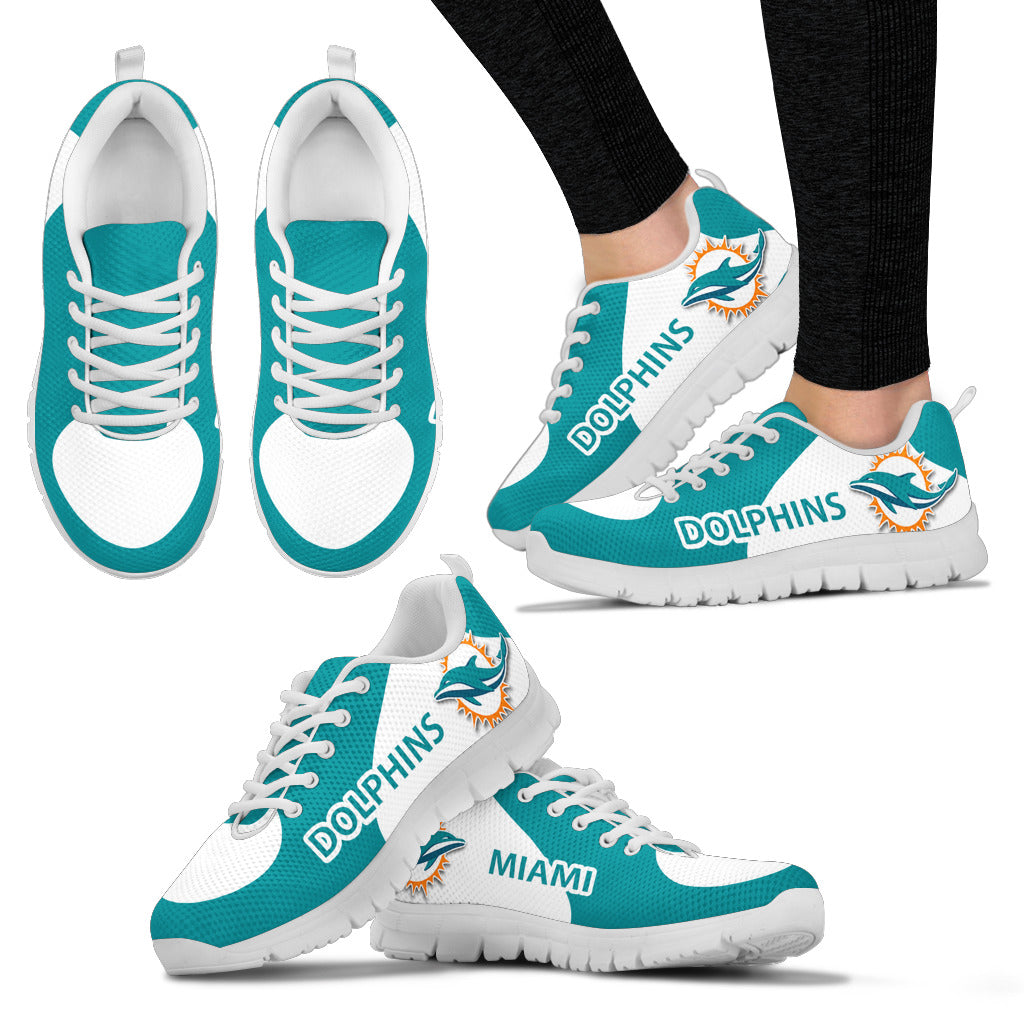Miami Dolphins Top Logo Sneakers