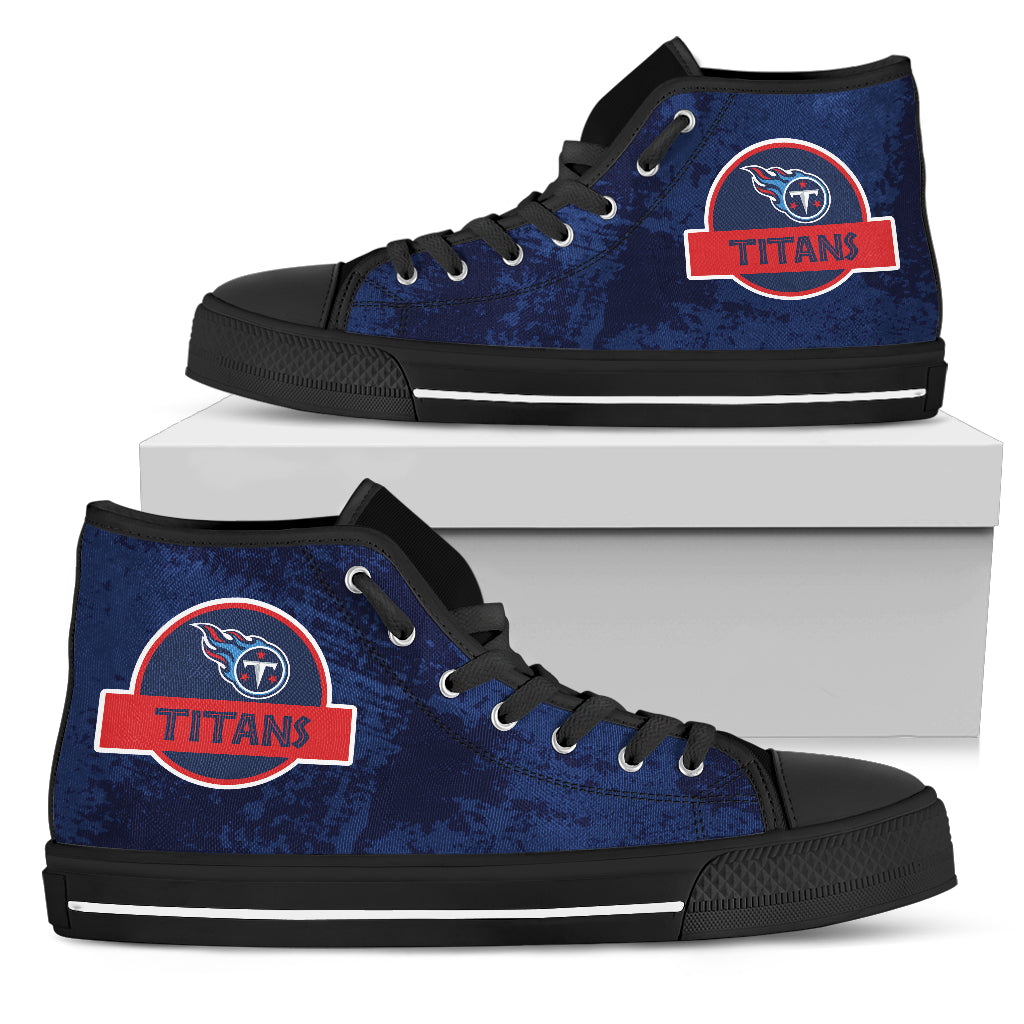 Jurassic Park Tennessee Titans High Top Shoes