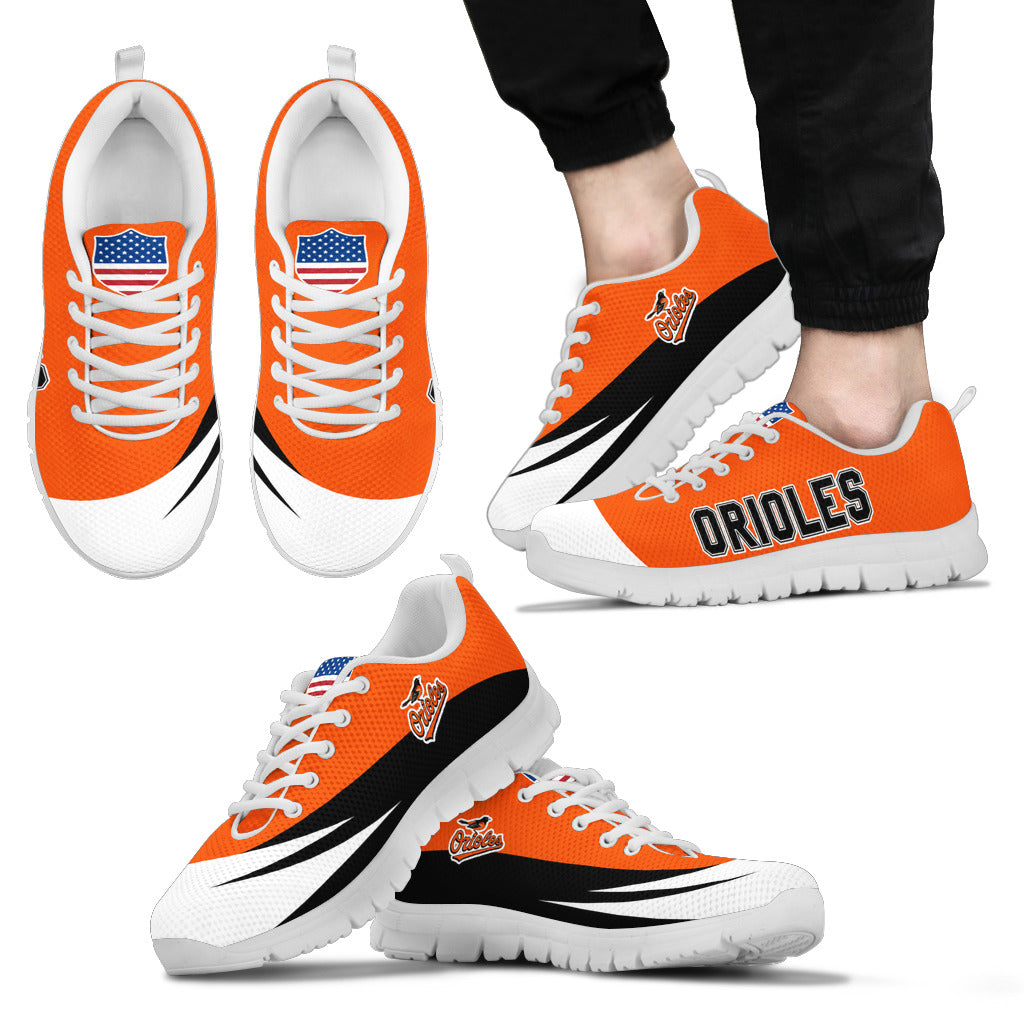 Awesome Gift Logo Baltimore Orioles Sneakers