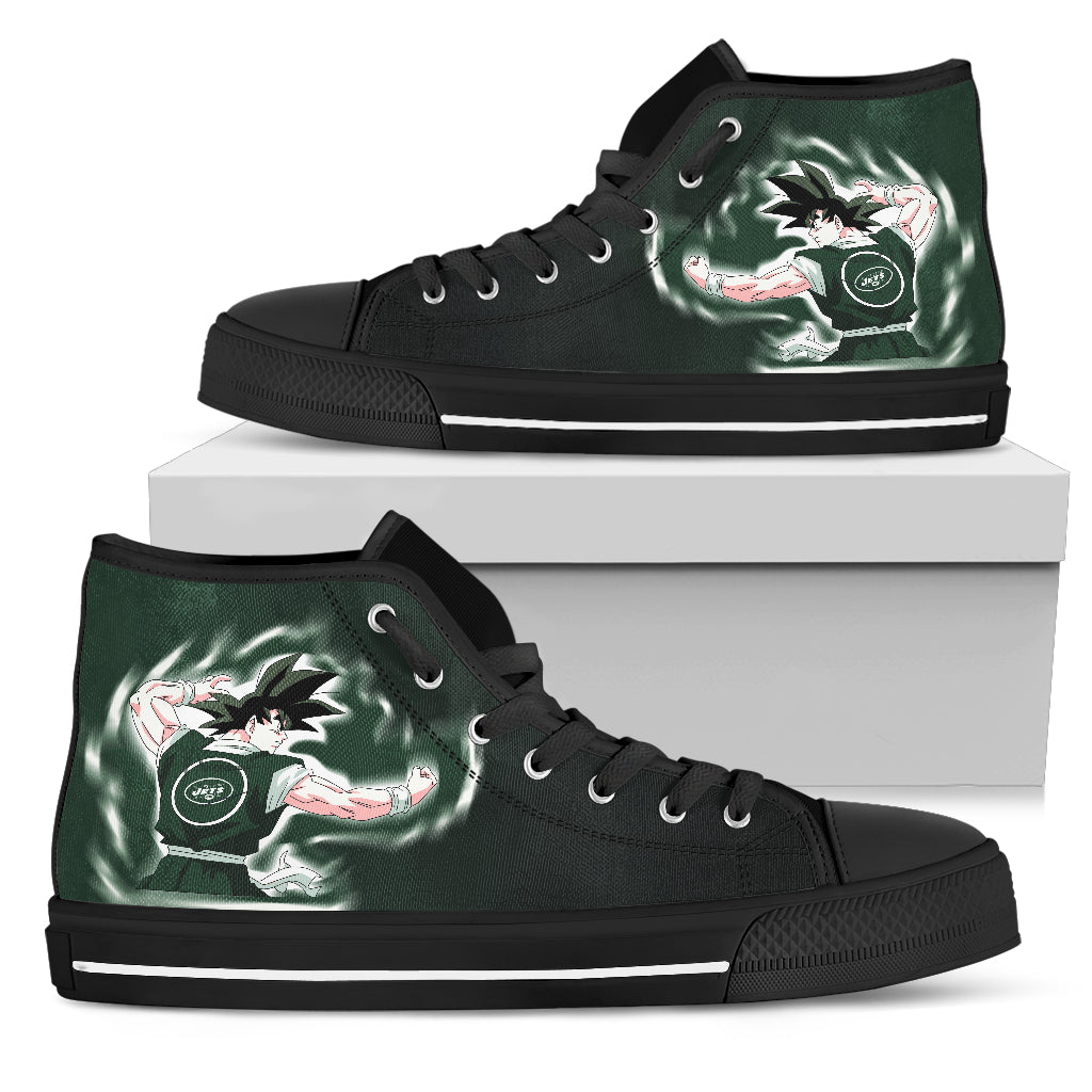 Son Goku Saiyan Power New York Jets High Top Shoes