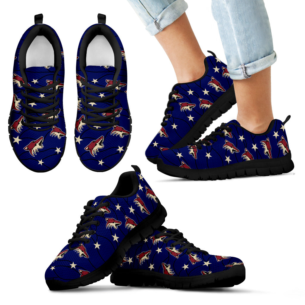 Star Twinkle Night Arizona Coyotes Sneakers