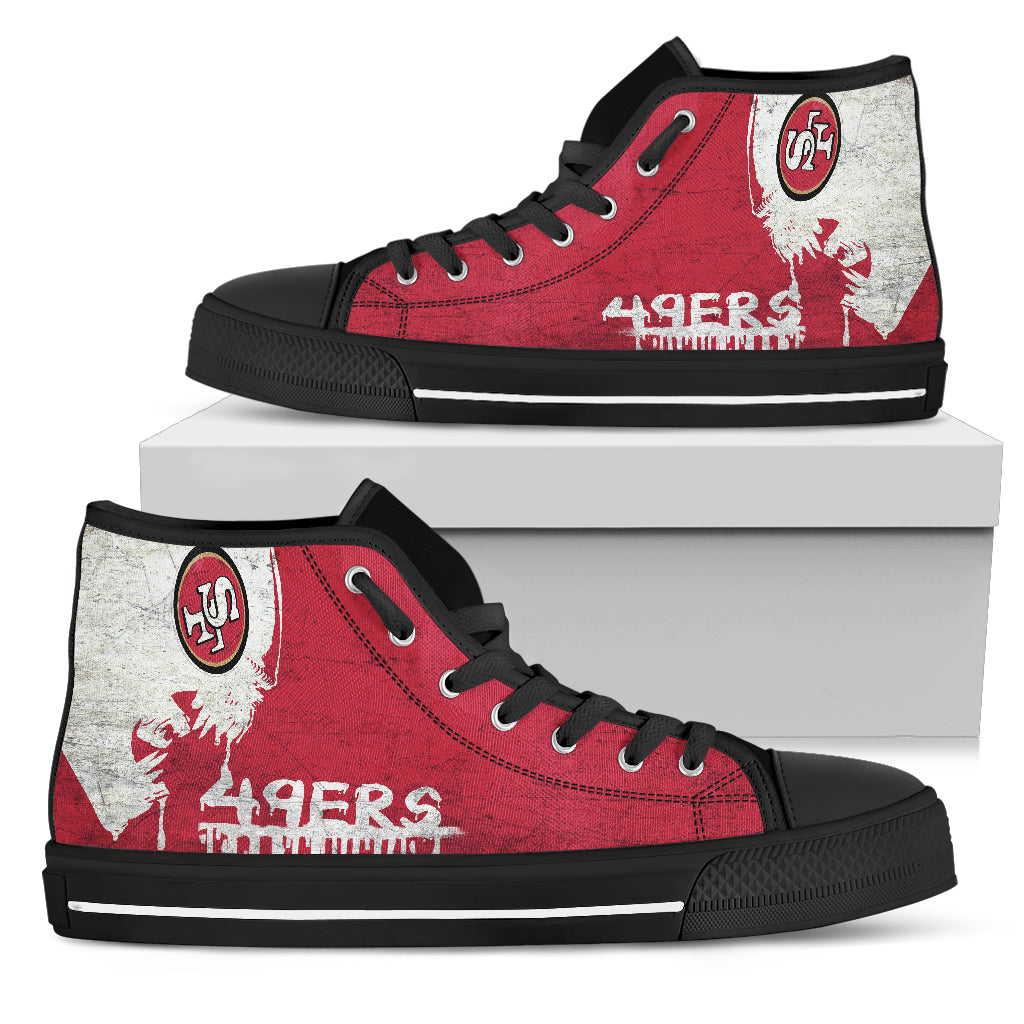 Alien Movie San Francisco 49ers High Top Shoes