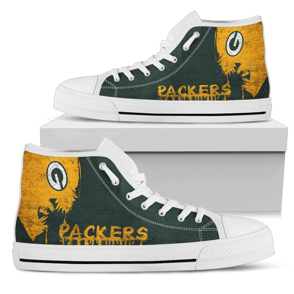 Alien Movie Green Bay Packers High Top Shoes