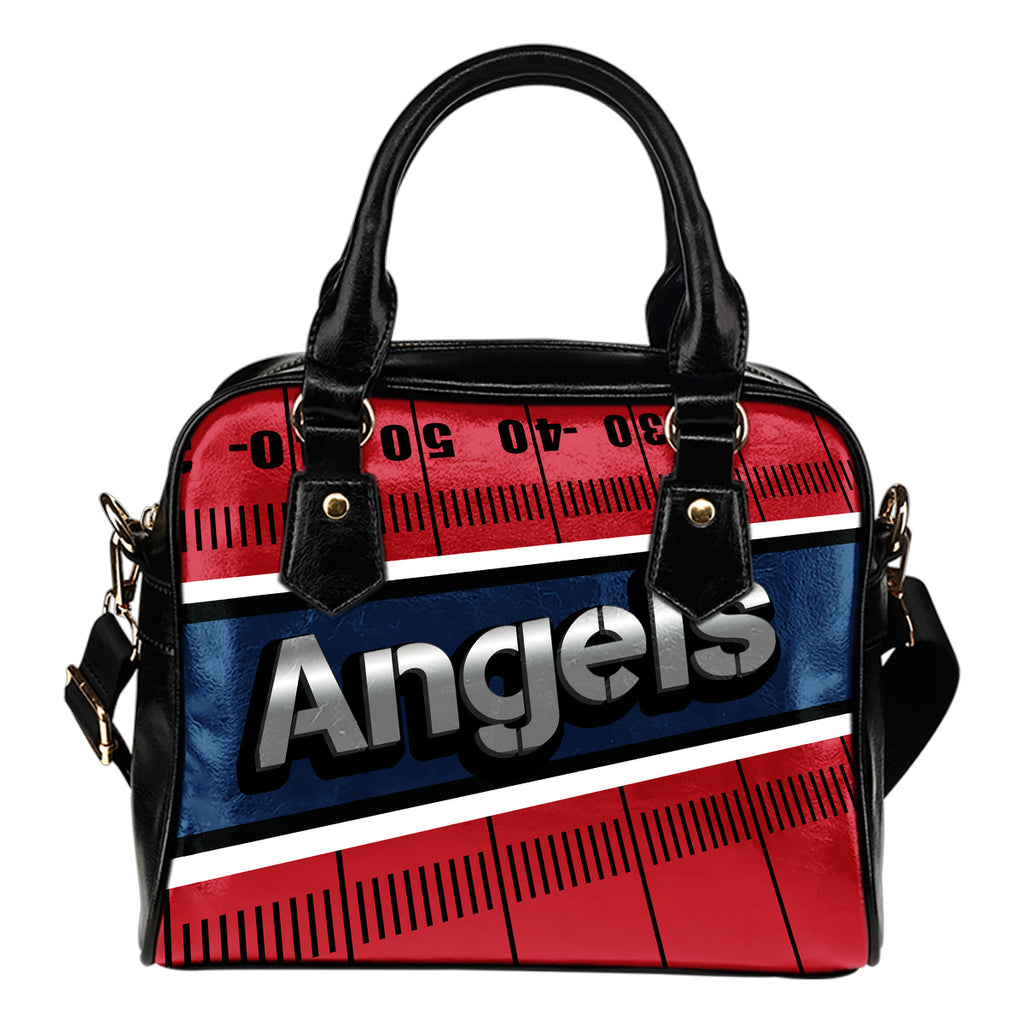 Los Angeles Angels Silver Name Colorful Shoulder Handbags