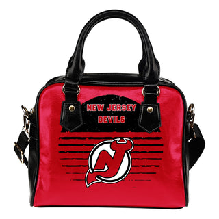 Back Fashion Round Charming New Jersey Devils Shoulder Handbags