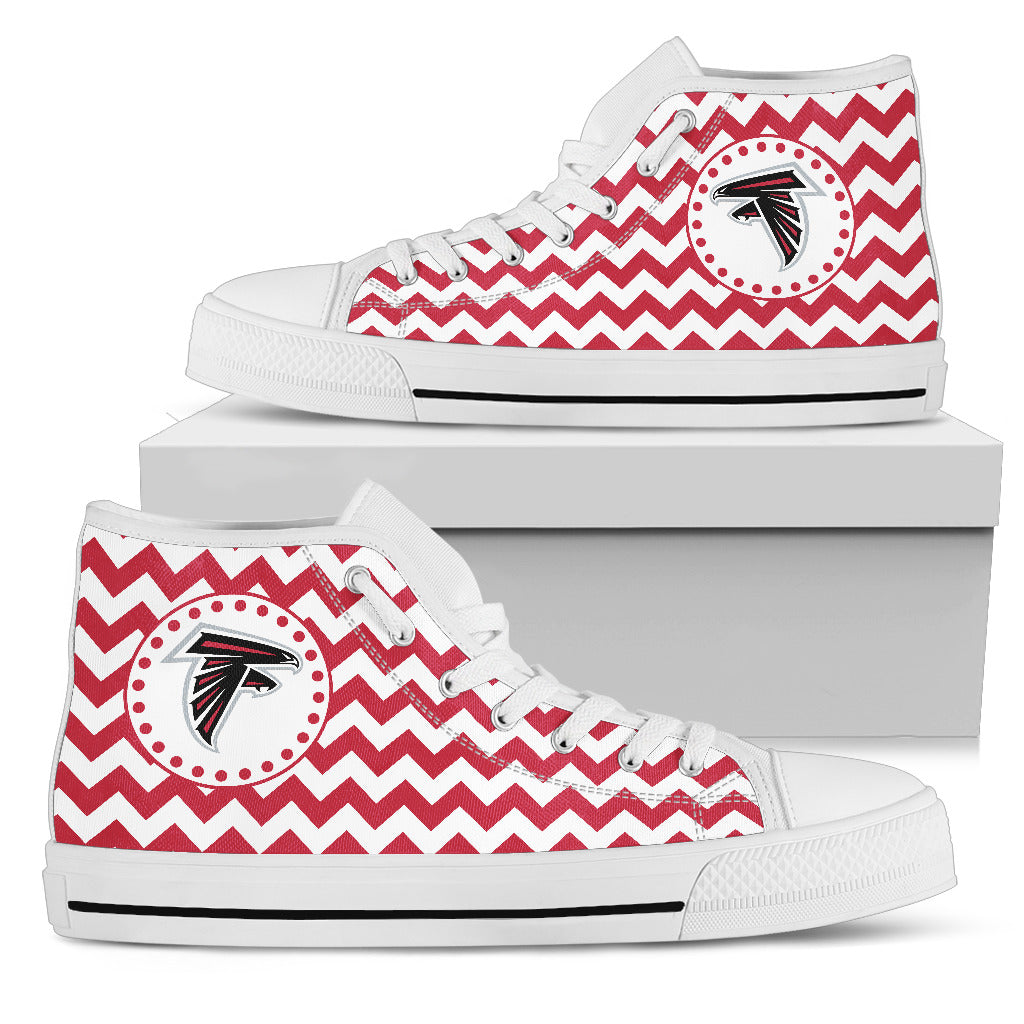 Chevron Broncos Atlanta Falcons High Top Shoes