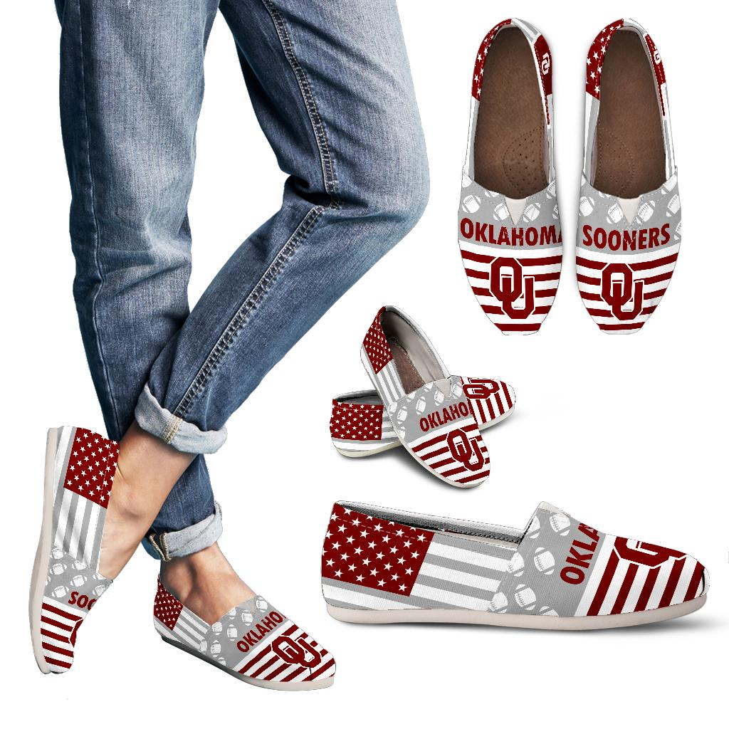 American Flag Oklahoma Sooners Casual Shoes