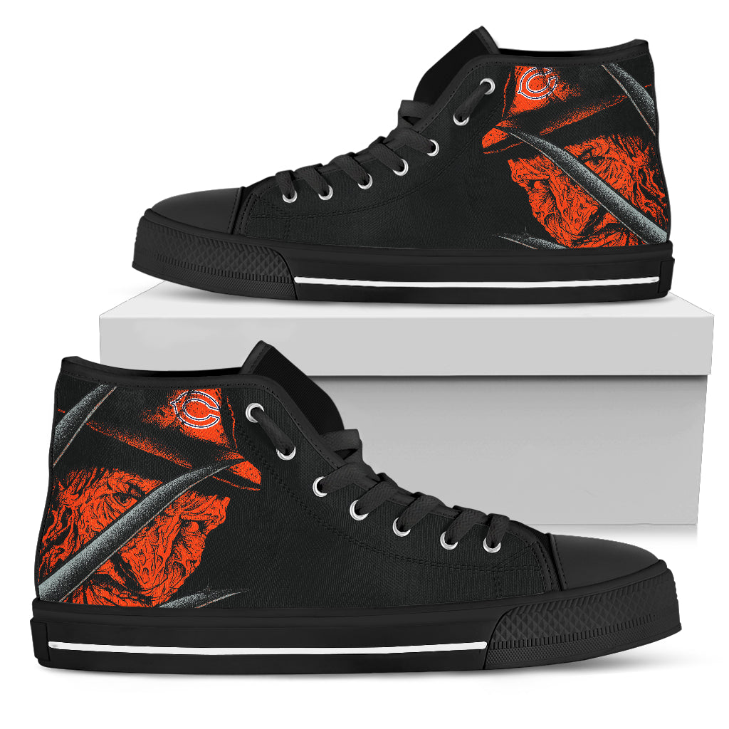 Chicago Bears Nightmare Freddy Colorful High Top Shoes