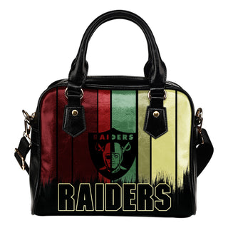 Vintage Silhouette Oakland Raiders Purse Shoulder Handbag