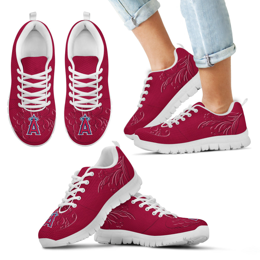 Lovely Floral Print Los Angeles Angels Sneakers