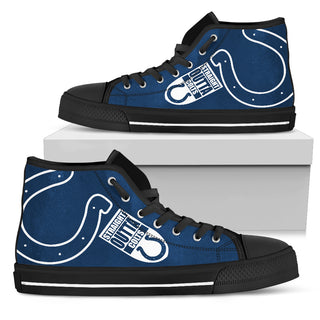 Straight Outta Indianapolis Colts High Top Shoes