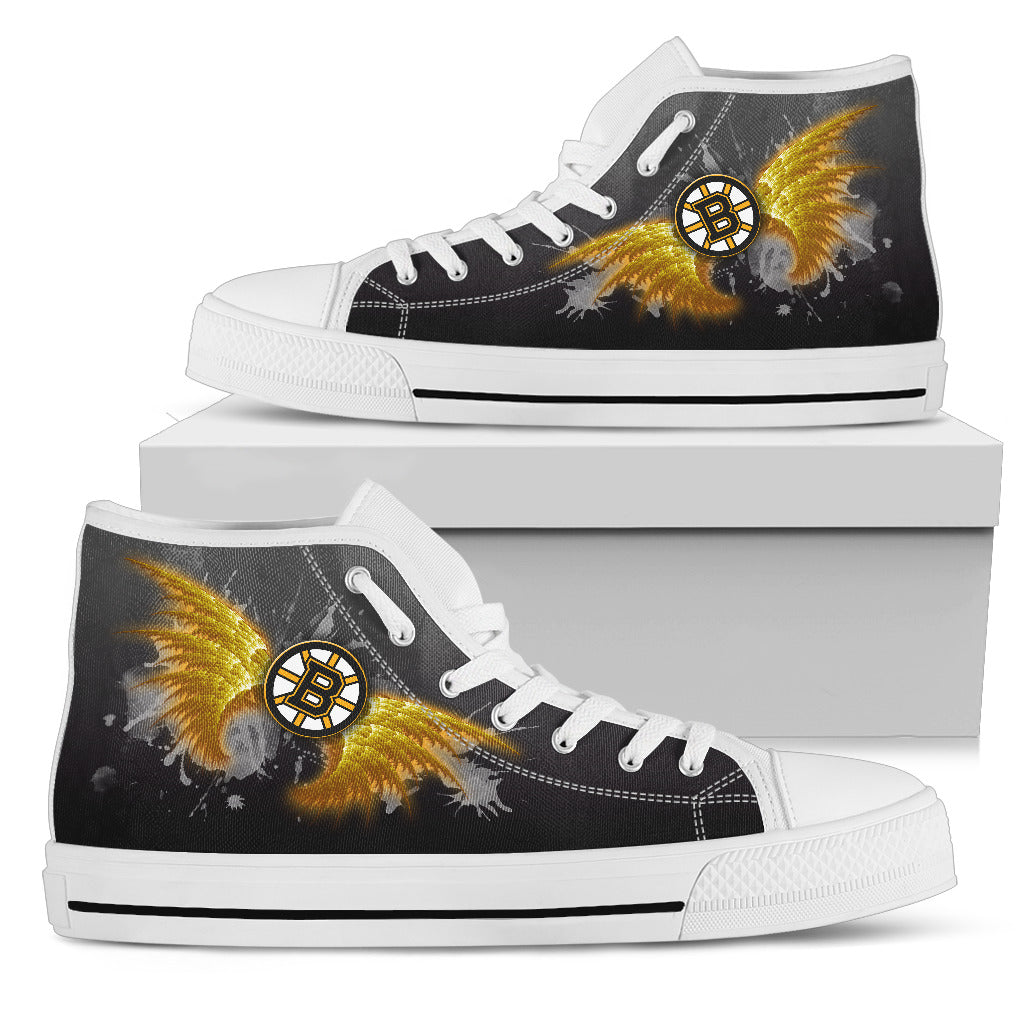 Angel Wings Boston Bruins High Top Shoes