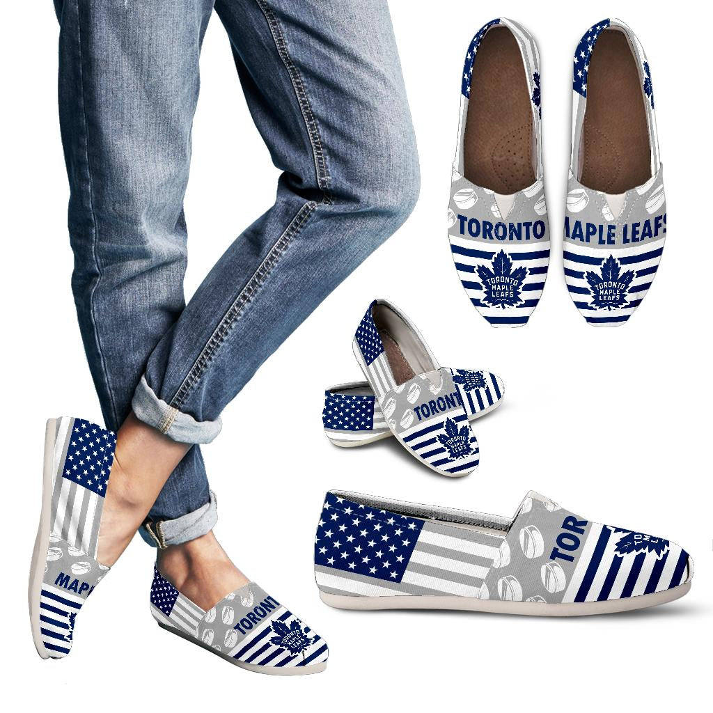 American Flag Toronto Maple Leafs Casual Shoes