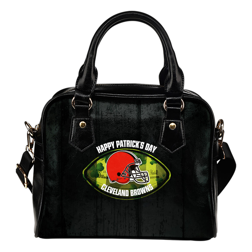 Retro Scene Lovely Shining Patrick's Day Cleveland Browns Shoulder Handbags
