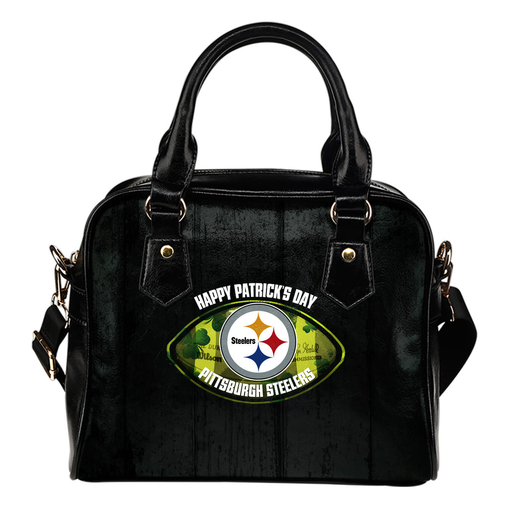 Retro Scene Lovely Shining Patrick's Day Pittsburgh Steelers Shoulder Handbags
