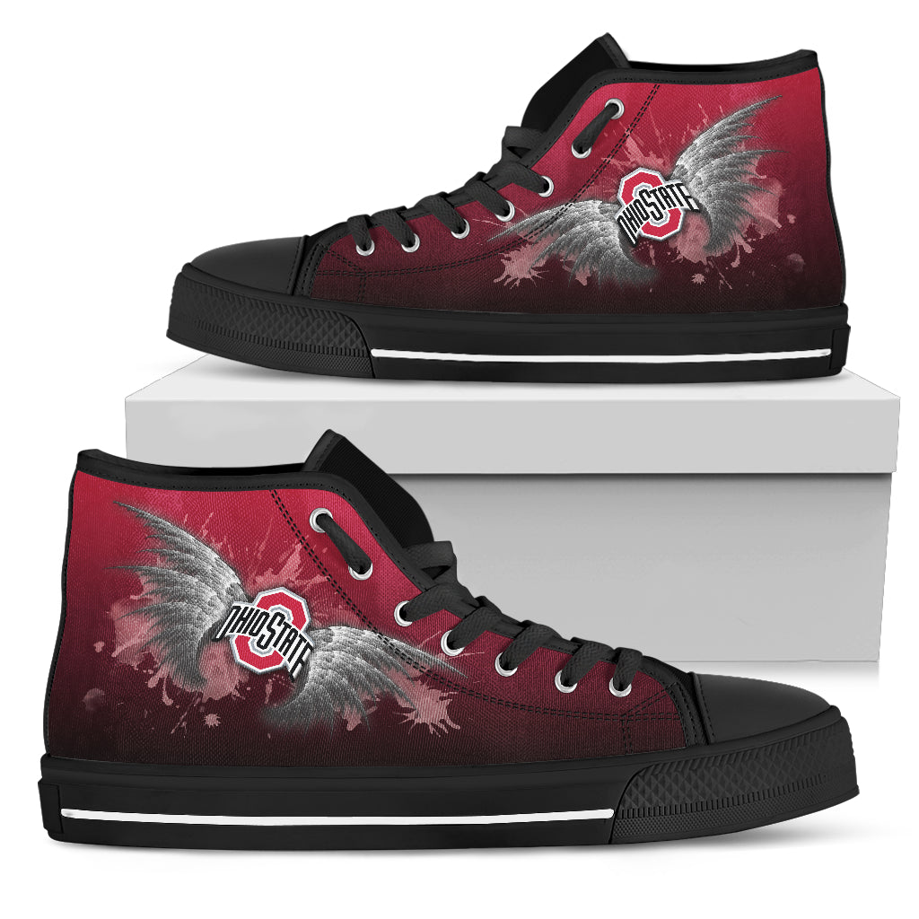 Angel Wings Ohio State Buckeyes High Top Shoes