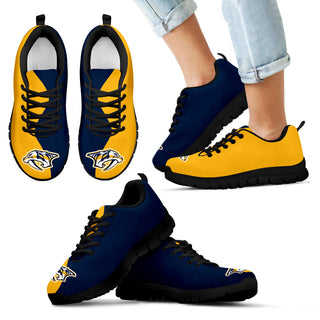 82b35556 Two Colors Trending Lovely Nashville Predators Sneakers