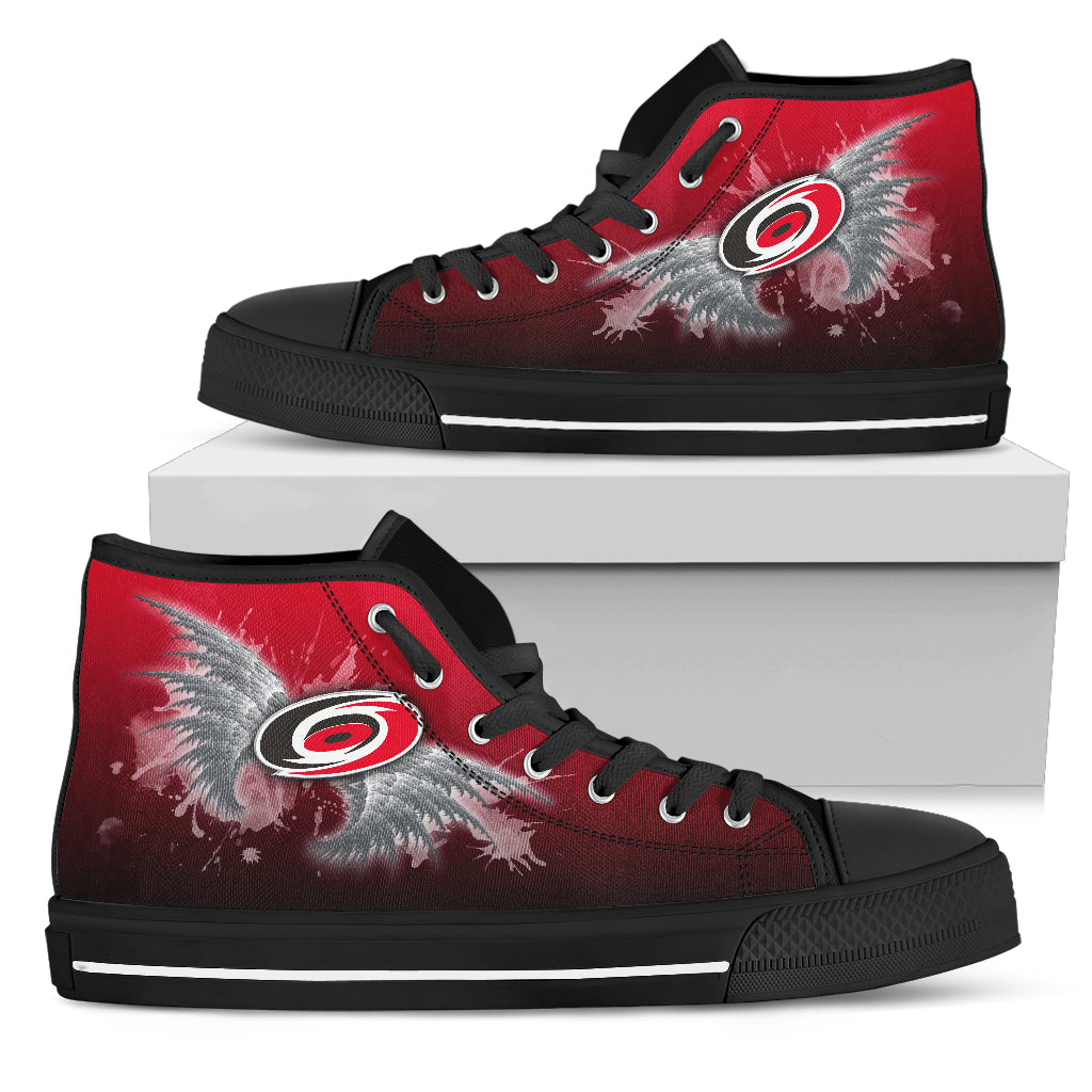 Angel Wings Carolina Hurricanes High Top Shoes