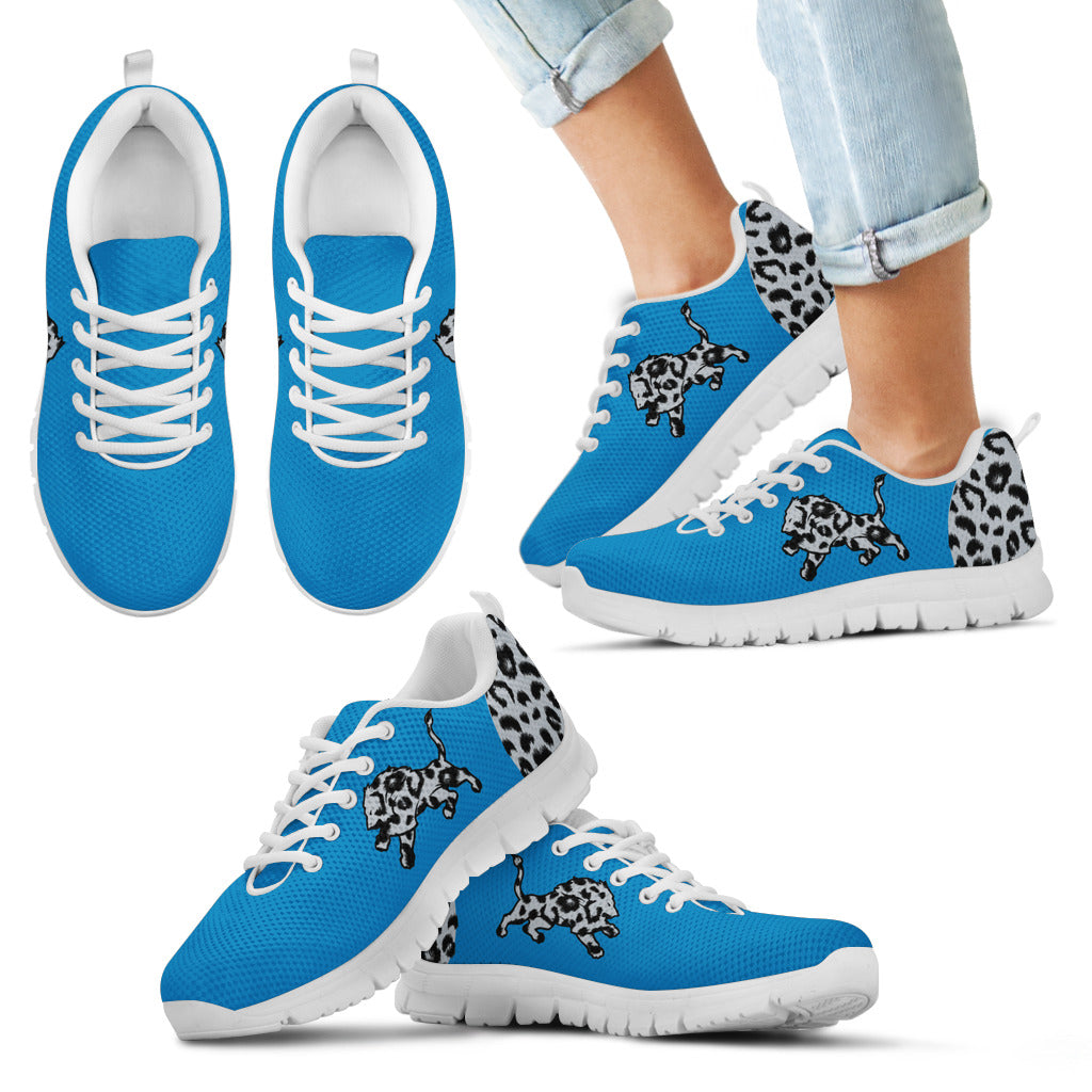 Cheetah Pattern Fabulous Detroit Lions Sneakers