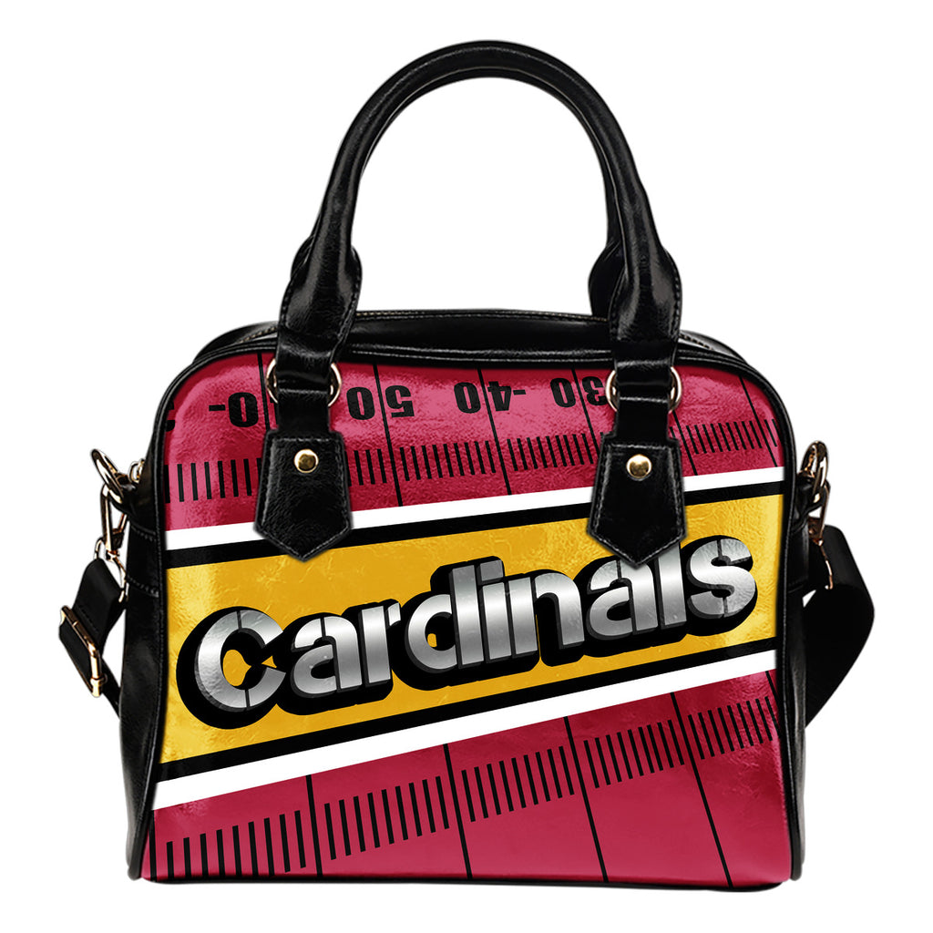 Arizona Cardinals Silver Name Colorful Shoulder Handbags