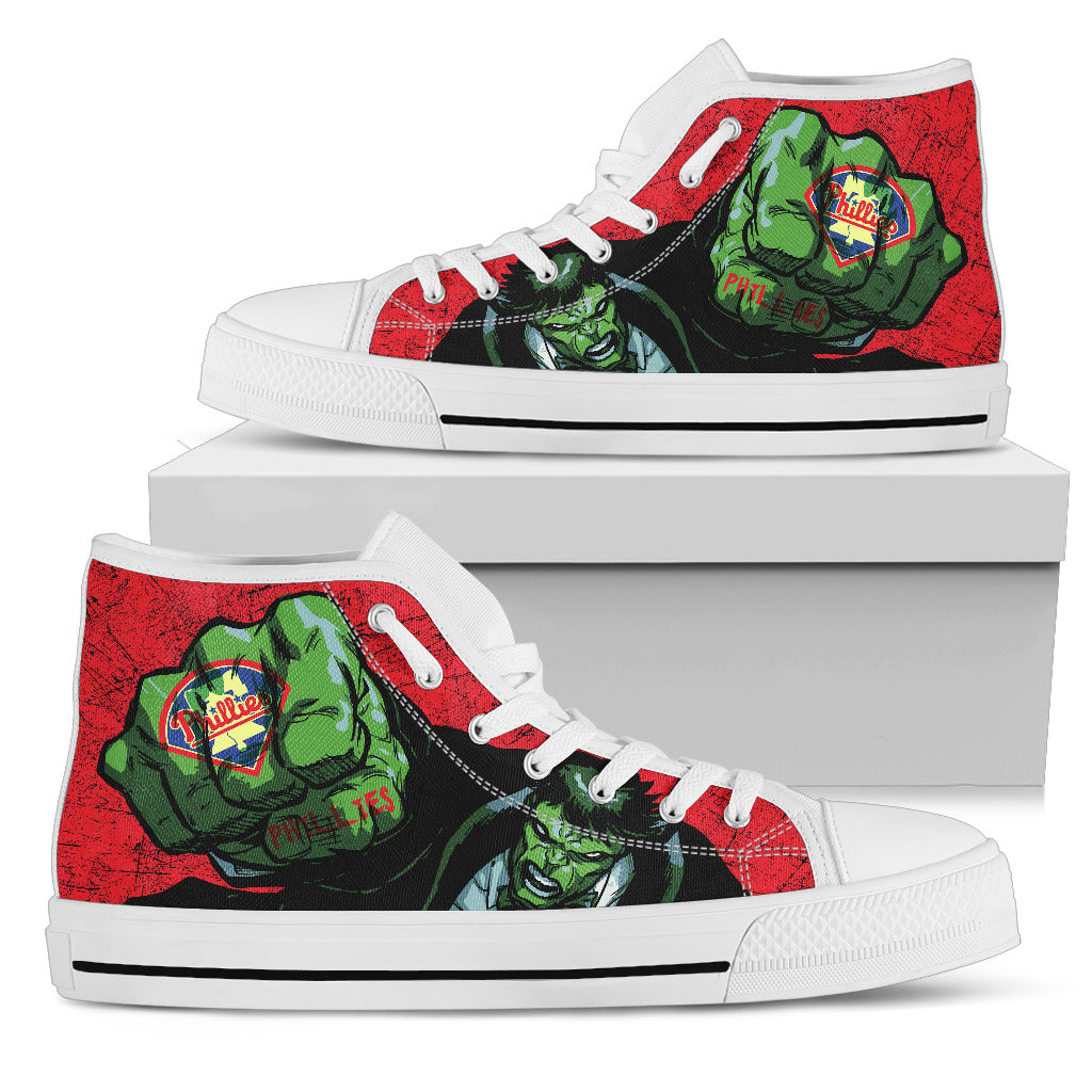 Hulk Punch Philadelphia Phillies High Top Shoes