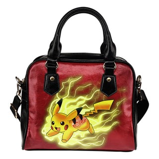 Pikachu Angry Moment Detroit Red Wings Shoulder Handbags