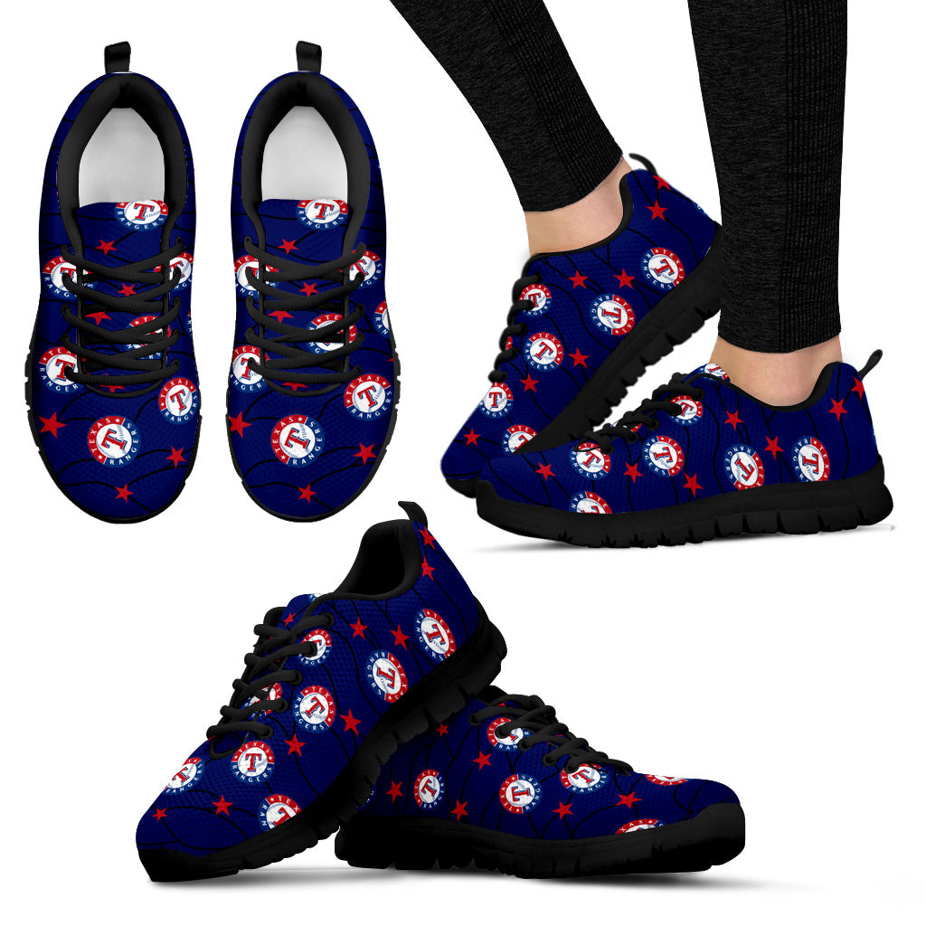 Star Twinkle Night Texas Rangers Sneakers