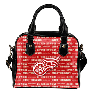 Nice Little Logo Detroit Red Wings Shoulder Handbags
